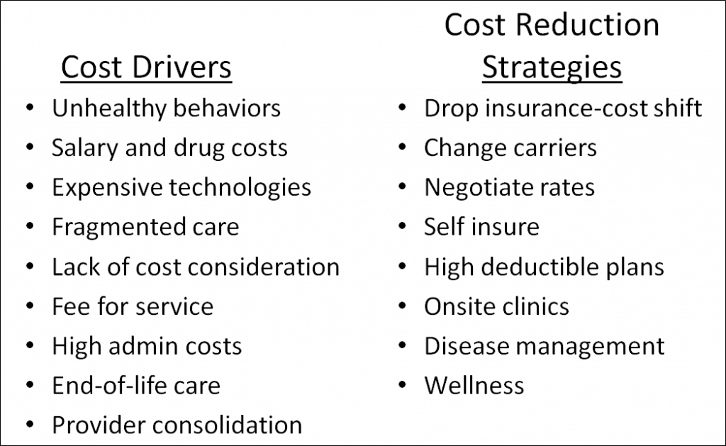 cost reduction of u s healthcare The rising cost of care has been a major concern in the us health care system in 1990 again, hospitalists should serve as educators about the importance of value based purchasing on quality outcomes,\ and its potential for cost savings through rendering appropriate and effective care hospitalists.