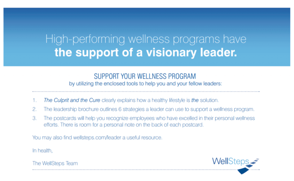 Wellness leadership letter