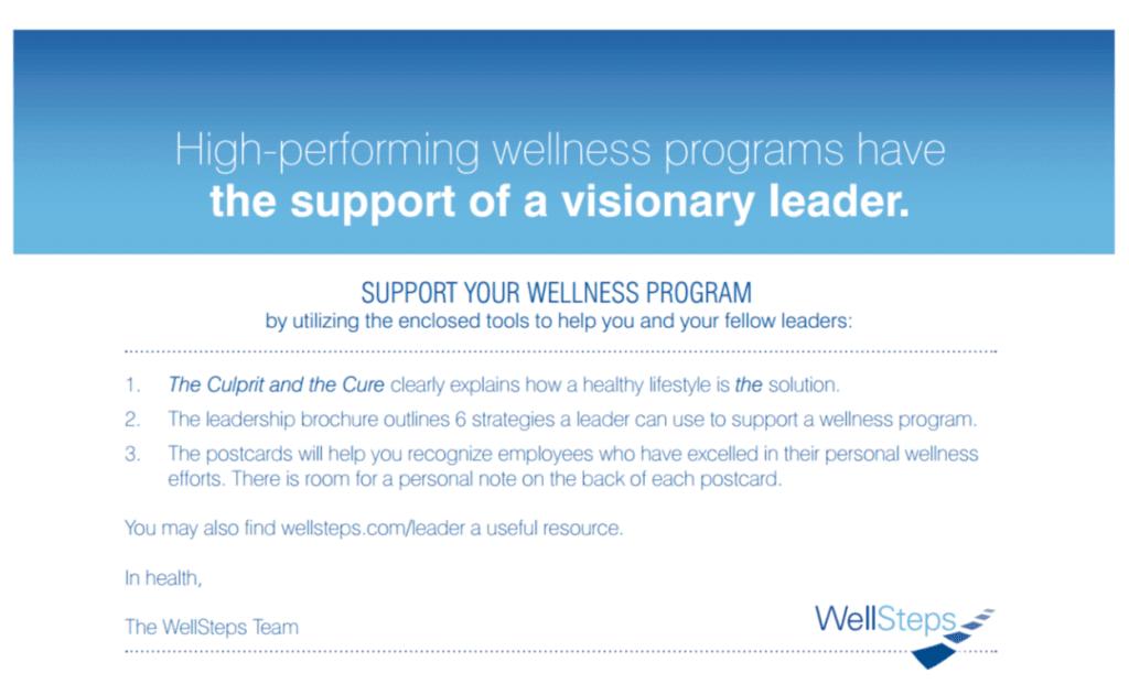 Wellness leadership letter
