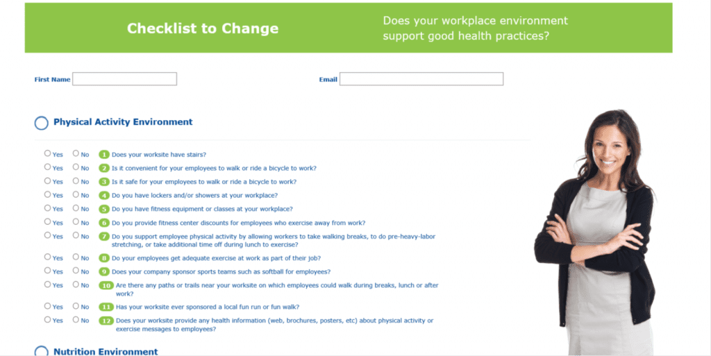 Checklist to change